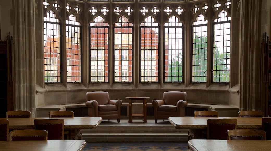 Bizzell Library featuring heritage elements and interior views