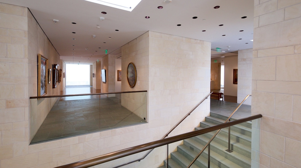 Fred Jones Jr. Museum of Art featuring interior views and art