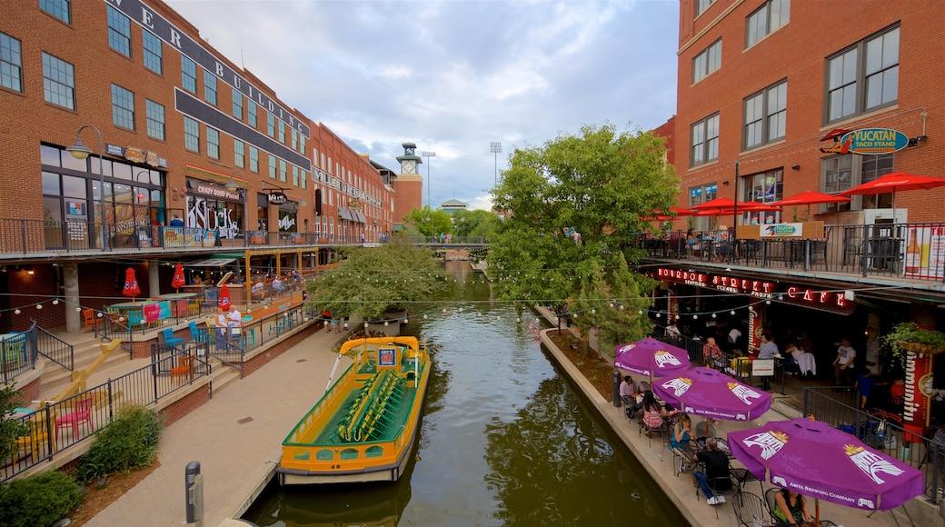 Bricktown featuring a river or creek