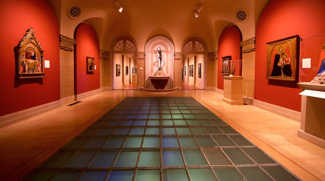 Philbrook Museum of Art featuring interior views, heritage elements and art