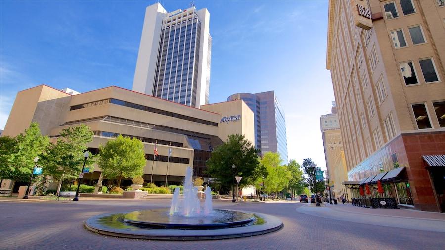 Tulsa joka esittää kaupunki, korkea rakennus ja lähde