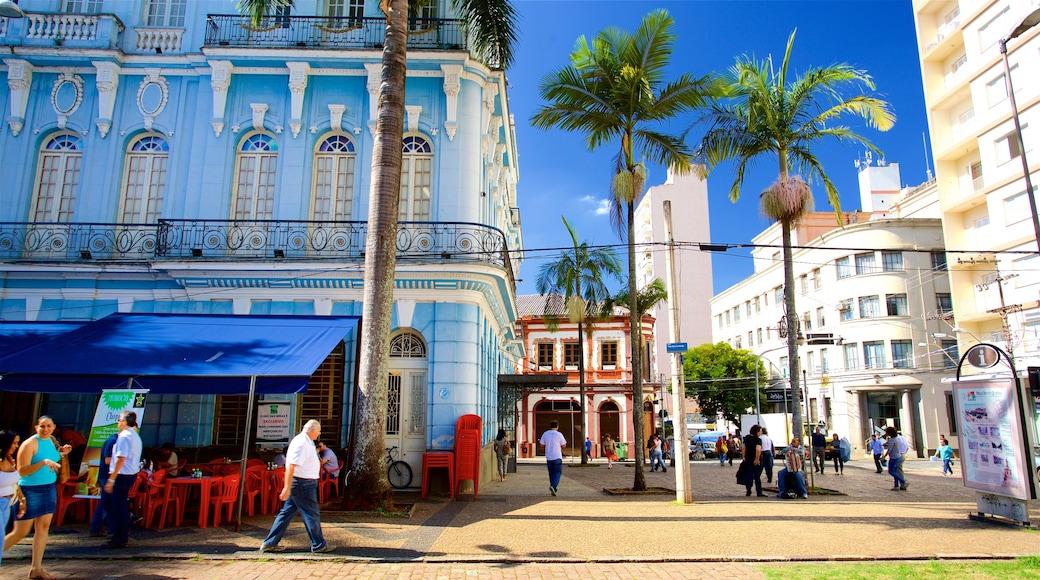 Campinas ofreciendo imágenes de calles y elementos patrimoniales y también un pequeño grupo de personas