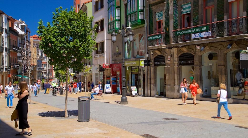 Aviles bevat straten, historisch erfgoed en een stad