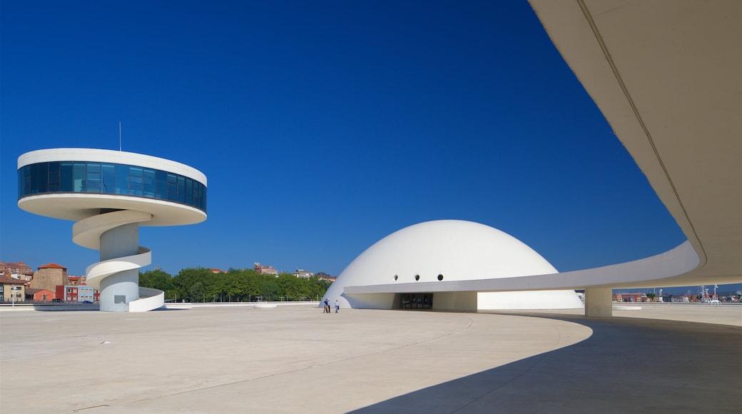 Centro cultural Oscar Niemeyer mostrando arquitectura moderna