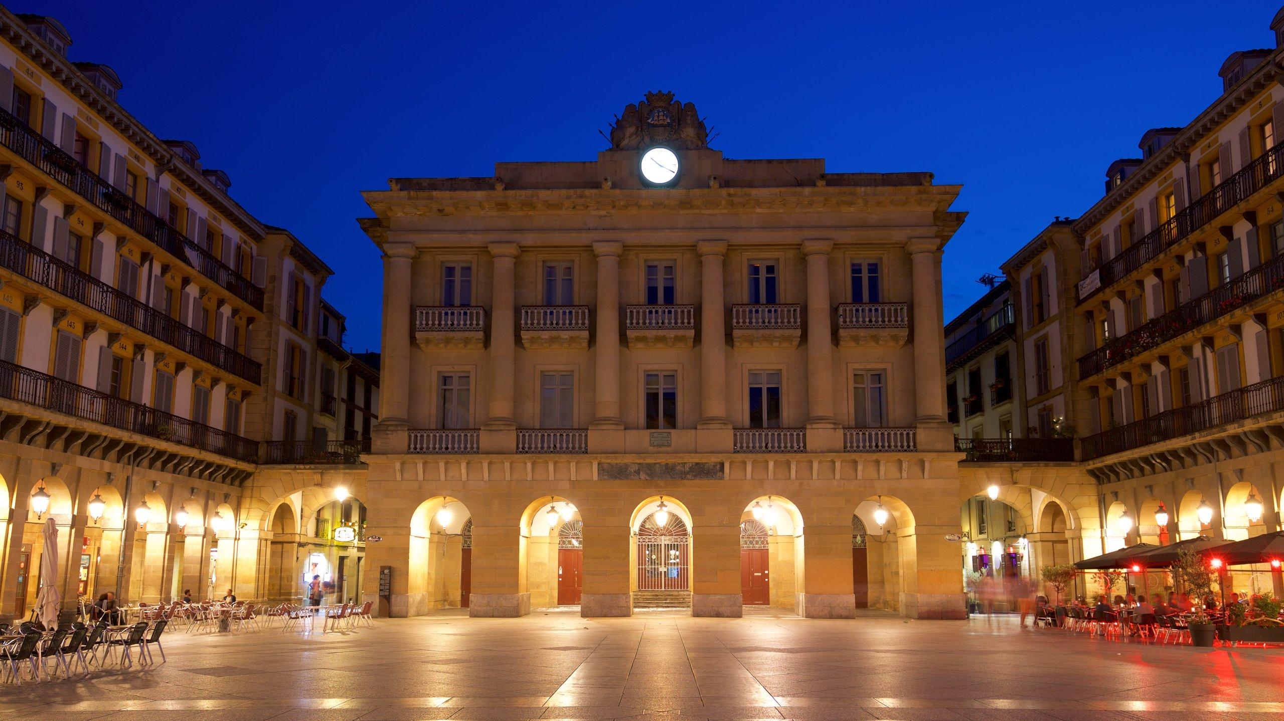 Plaza de la Constitución, San Sebastián, Baskenland, Spanien