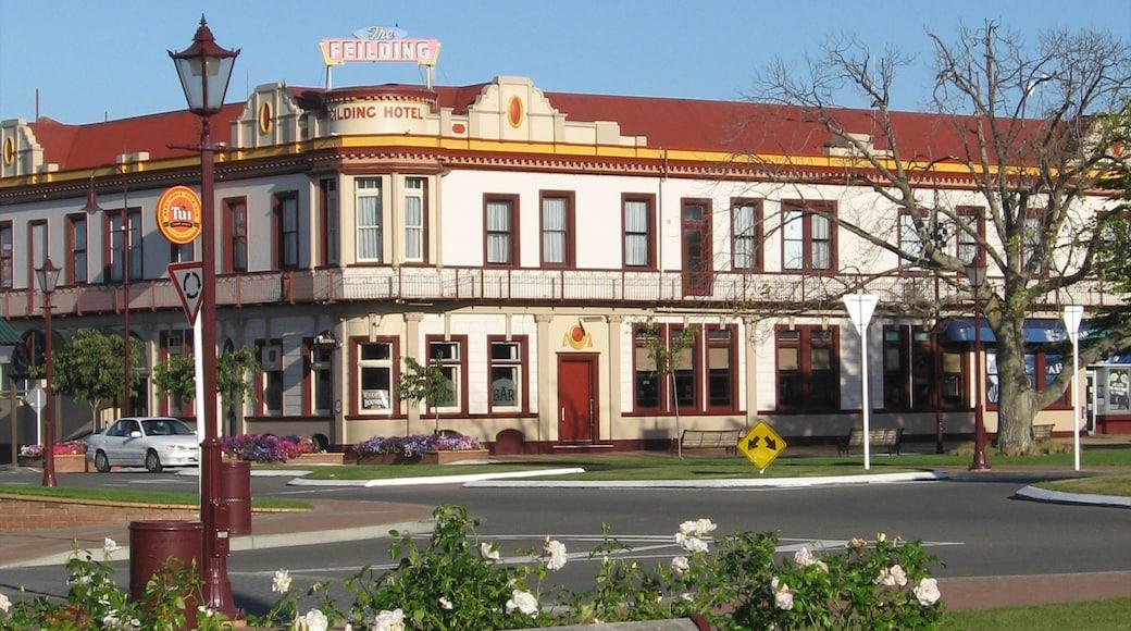 Manawatu-Wanganui das einen Stadt, Hotel und historische Architektur