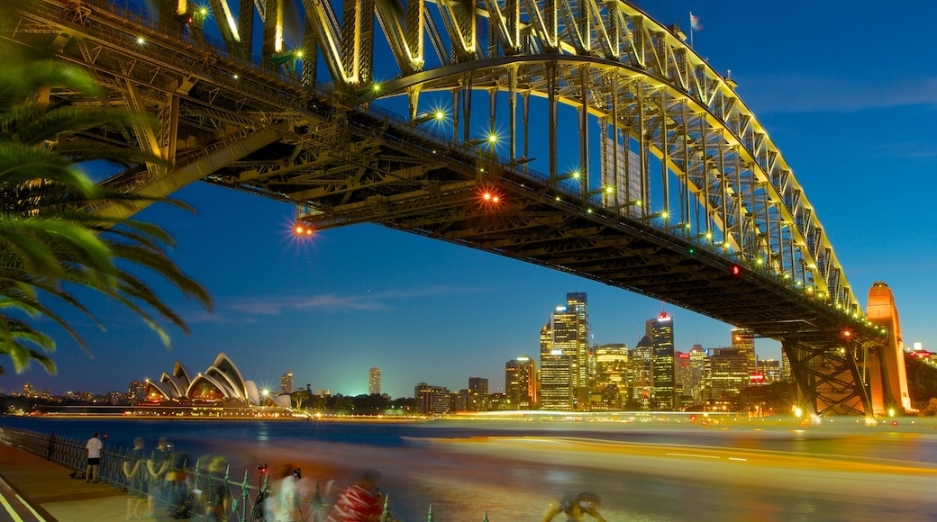 Sydney which includes modern architecture, a bridge and a city