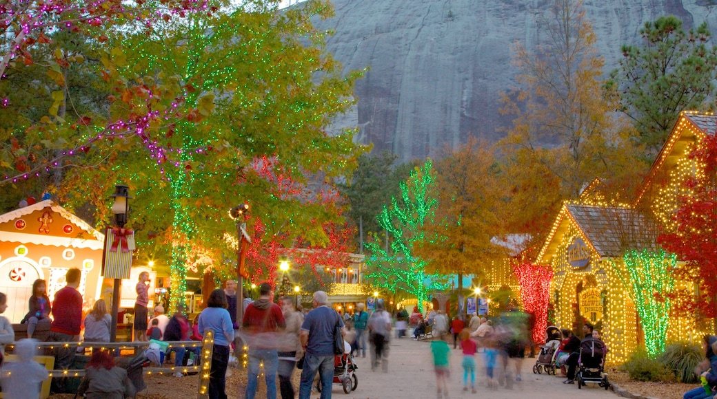 Stone Mountain Park showing a festival and a park as well as a large group of people