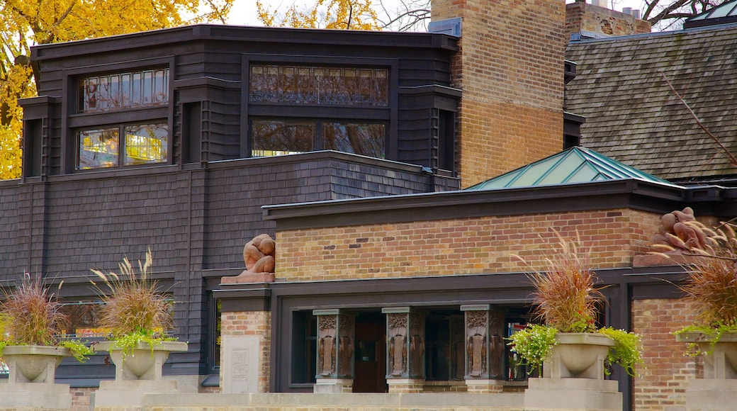 Frank Lloyd Wright Home and Studio which includes a house