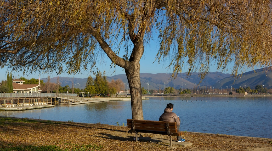 Fremont Central Park featuring a lake or waterhole, a park and landscape views
