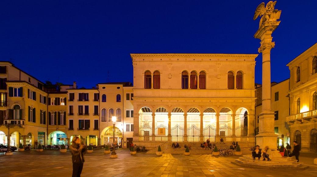 Piazza dei Signori featuring a city, night scenes and a square or plaza