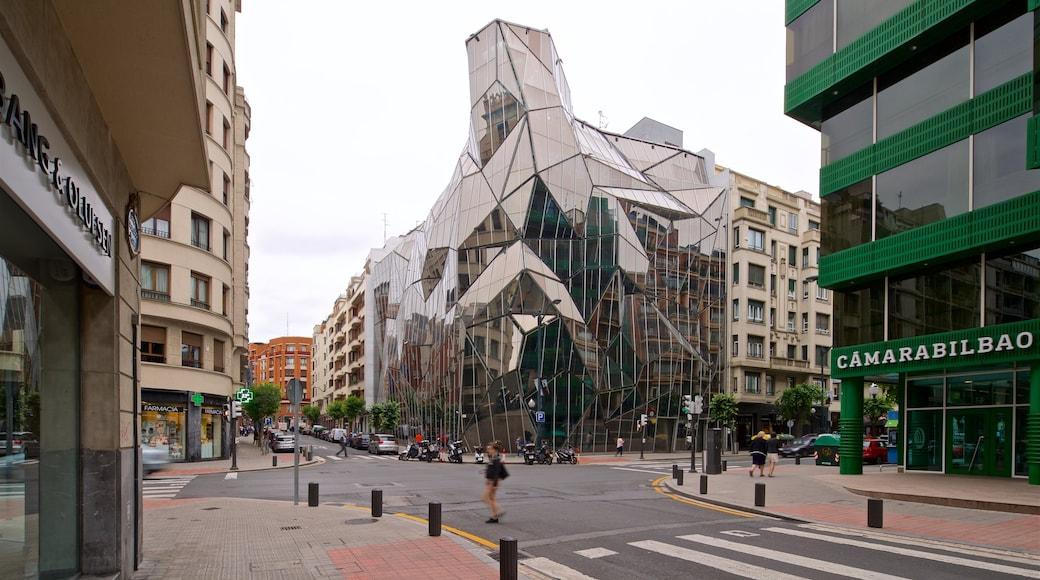 Bilbao que incluye arquitectura moderna