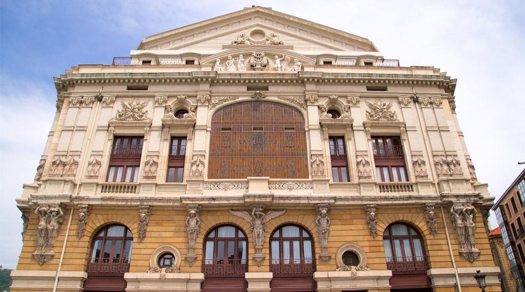 Teatro Arriaga mostrando arquitectura patrimonial