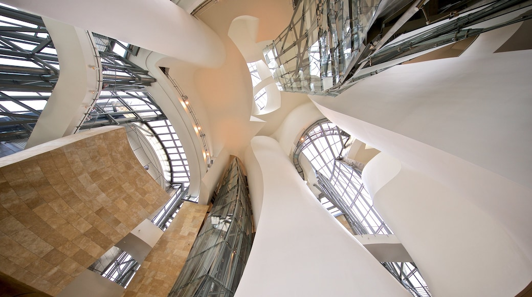 Museo Guggenheim Bilbao mostrando vistas de interior