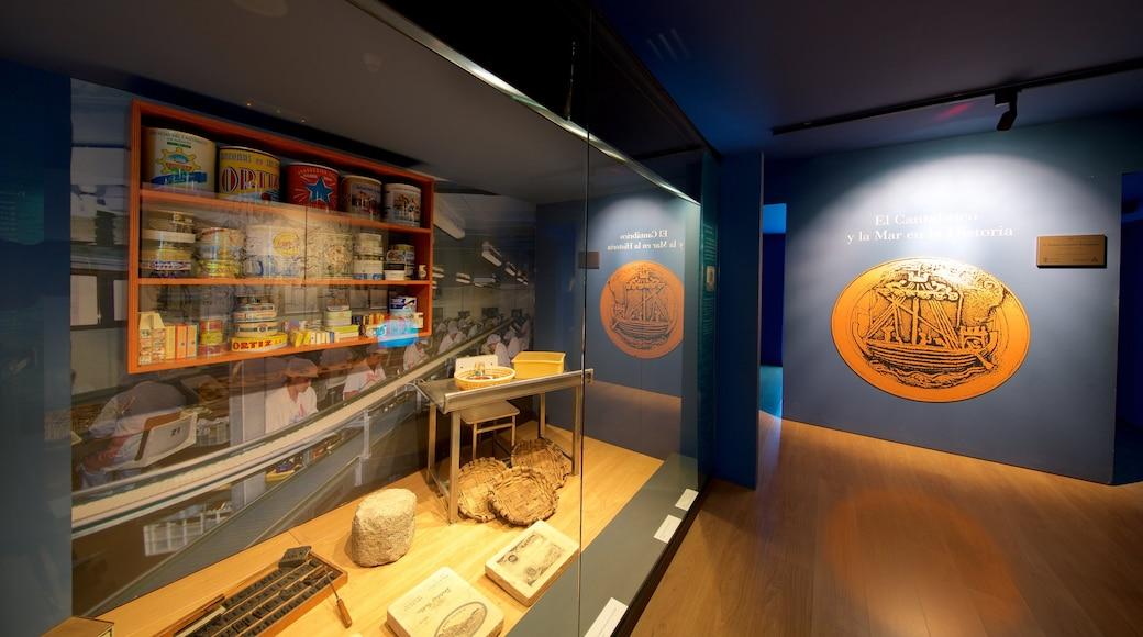 Museo marítimo de Cantabria ofreciendo vida marina y vistas de interior