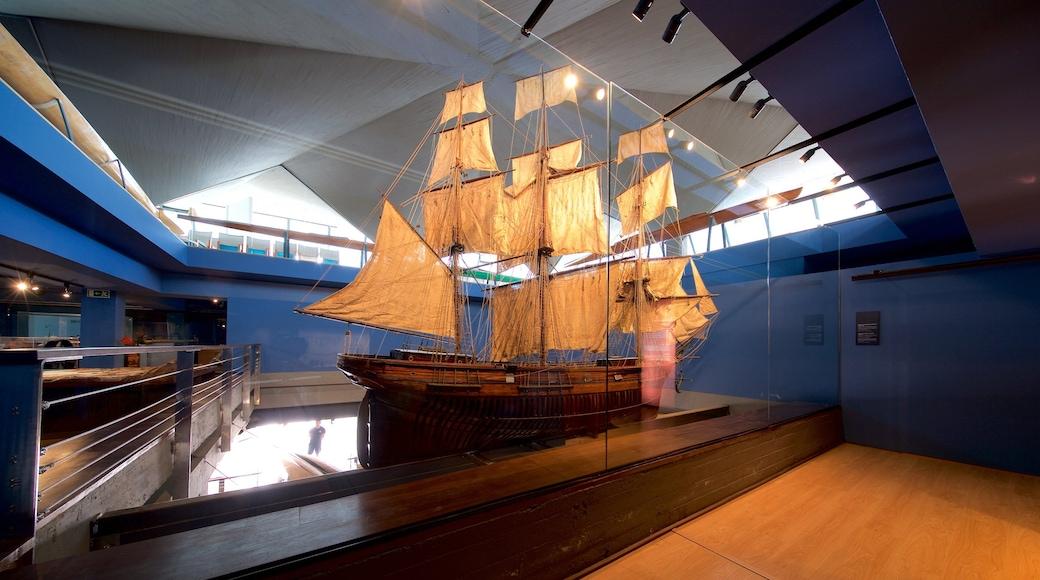 Museo marítimo de Cantabria ofreciendo vistas de interior y vida marina