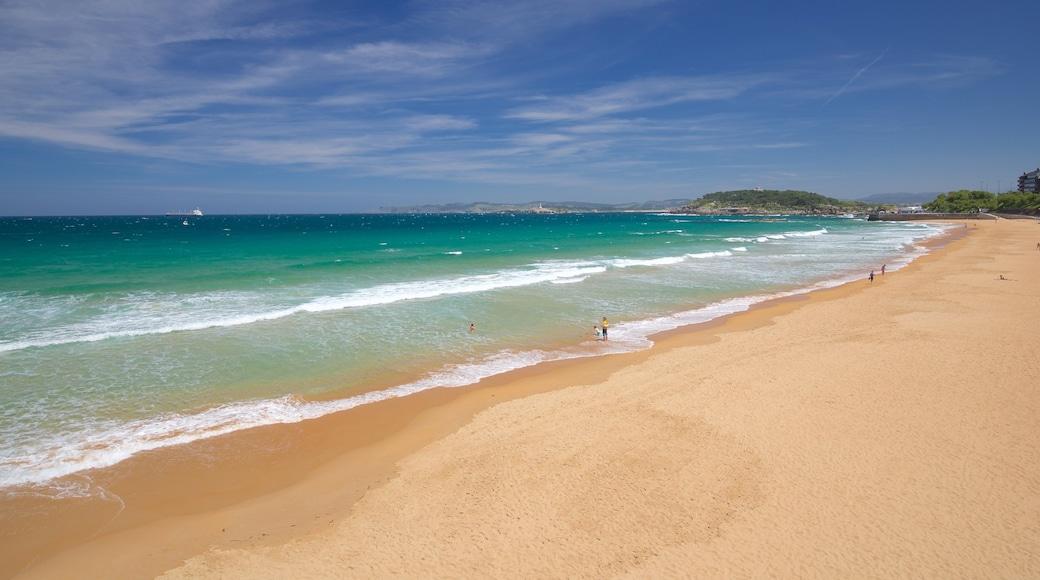 El Sardinero Beach featuring a beach and general coastal views