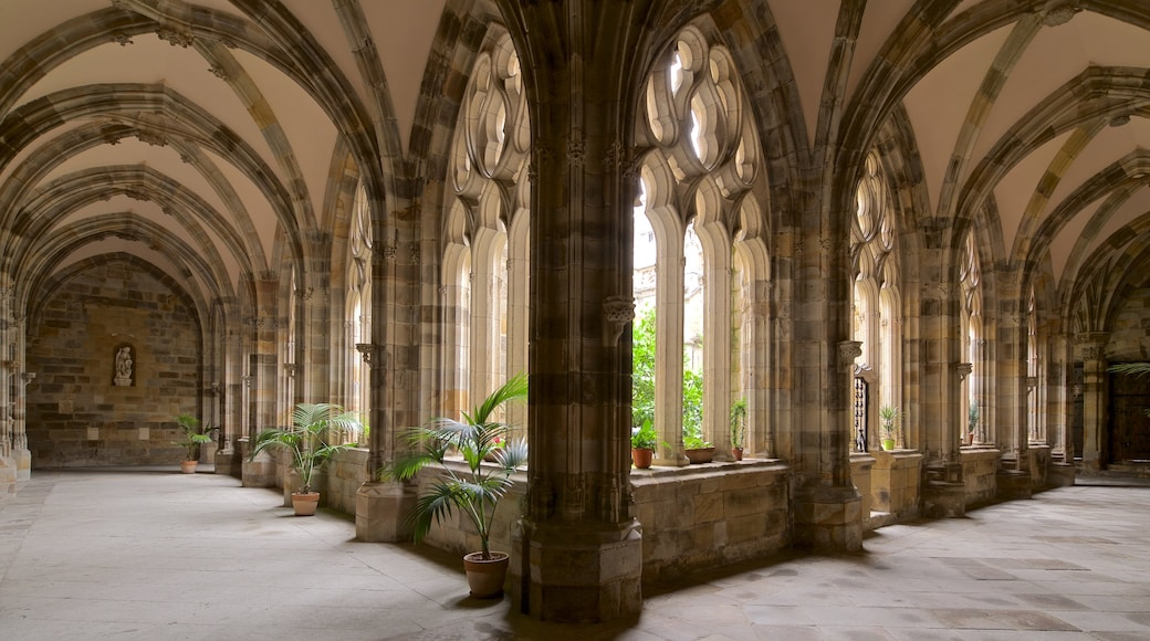 Santiago Cathedral showing interior views and heritage elements