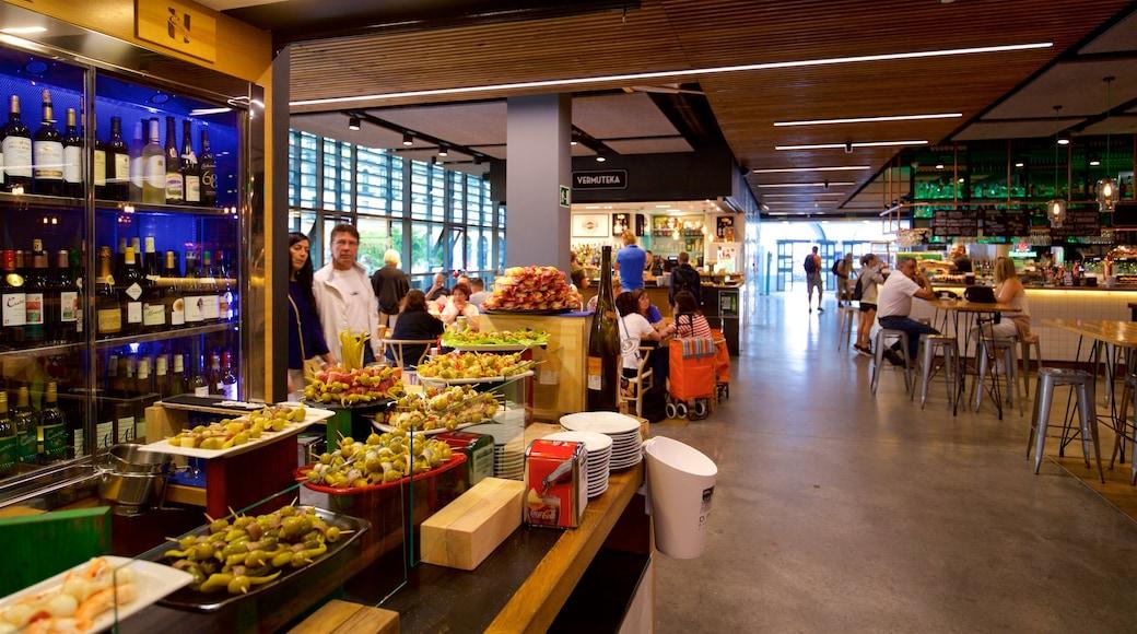 Ribera Market featuring food, interior views and a bar