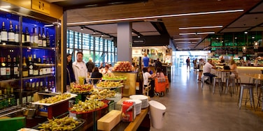 Ribera Market which includes interior views, food and a bar