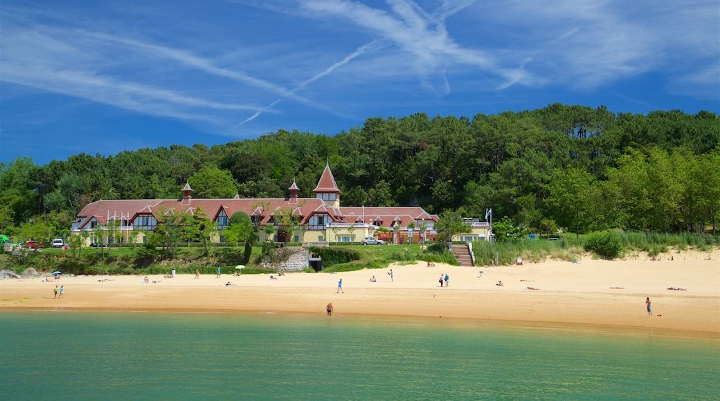 Magdalena Beach which includes general coastal views, a coastal town and a beach