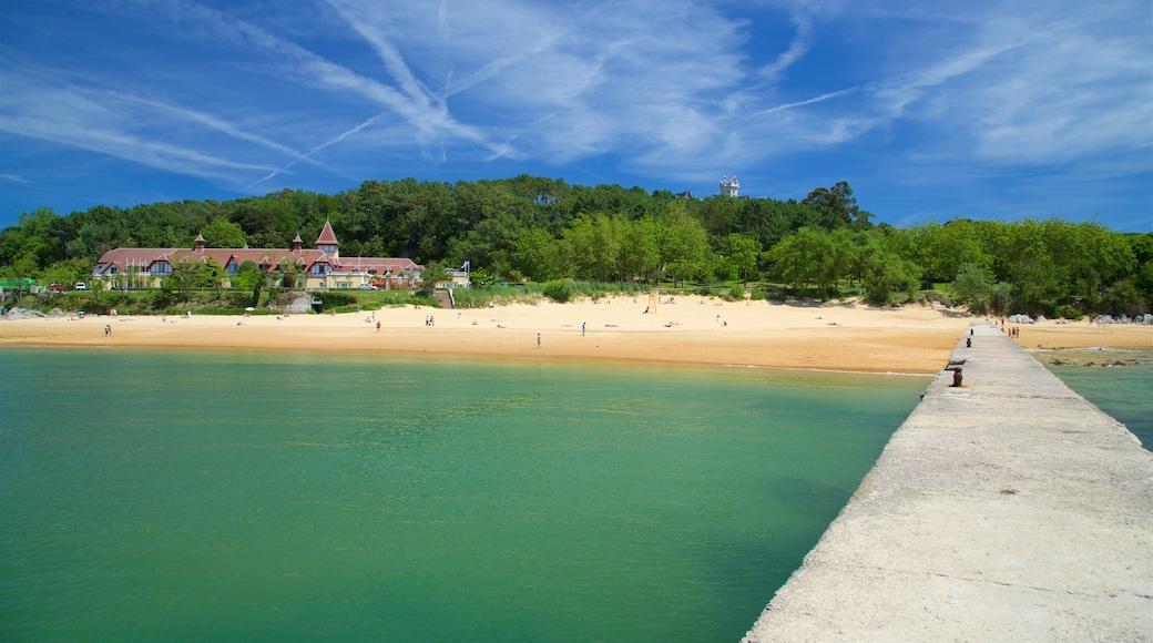 Magdalena Beach showing a coastal town, general coastal views and a sandy beach