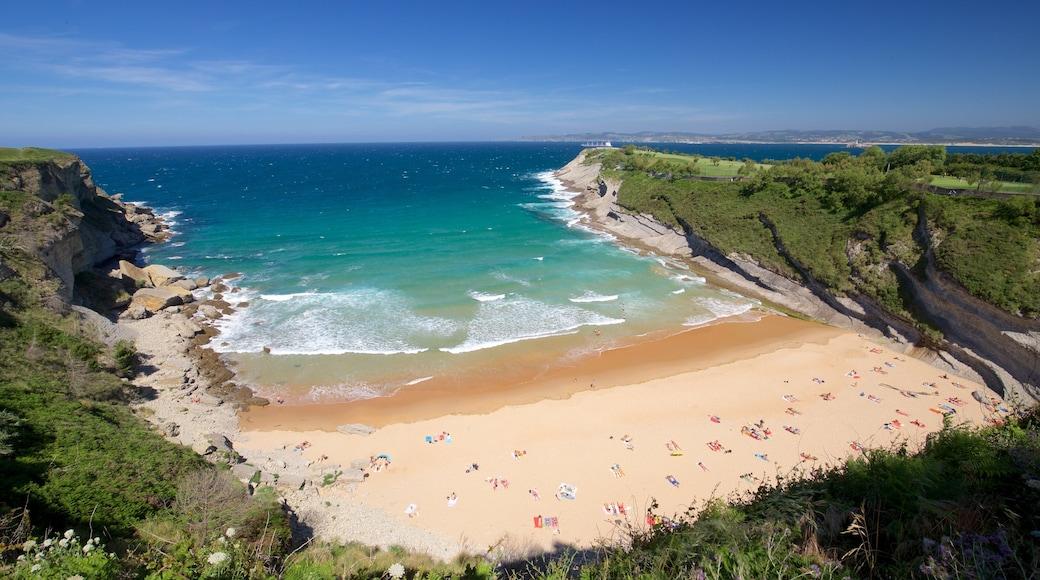 Matalenas Beach showing a beach and general coastal views