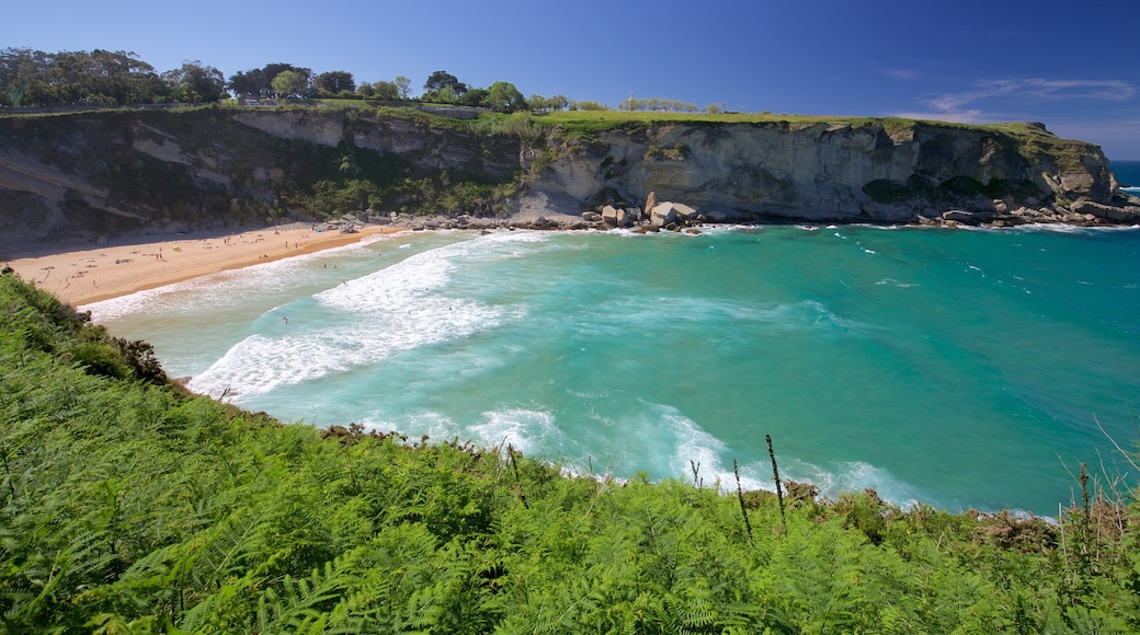 Matalenas Beach featuring general coastal views, a sandy beach and rugged coastline