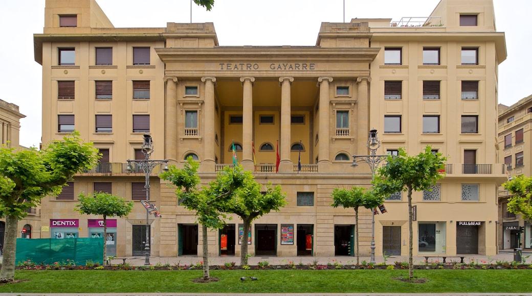 Teatro Gayarre mettant en vedette patrimoine architectural