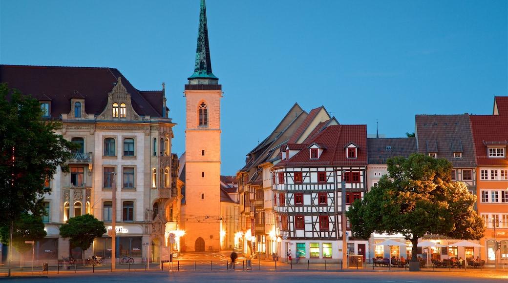 Erfurt das einen historische Architektur, Geschichtliches und bei Nacht