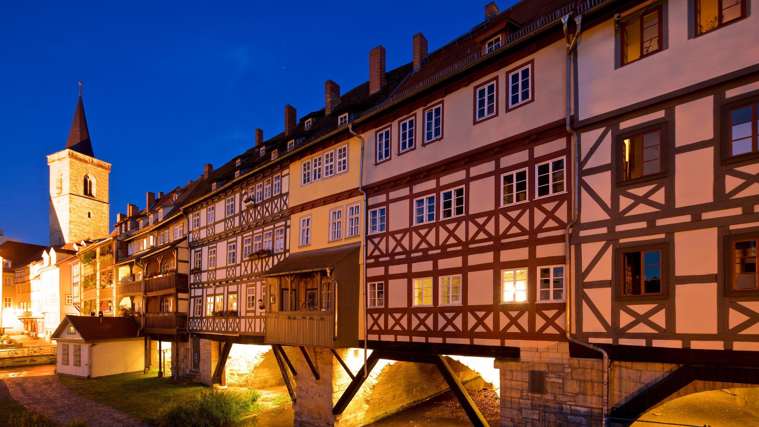 Krämerbrücke, Erfurt, Thüringen, Deutschland