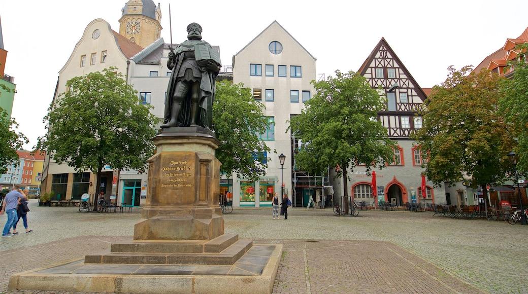 Jena welches beinhaltet Statue oder Skulptur und Platz oder Plaza