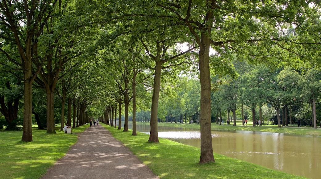 Staatspark Karlsaue das einen Garten und Fluss oder Bach
