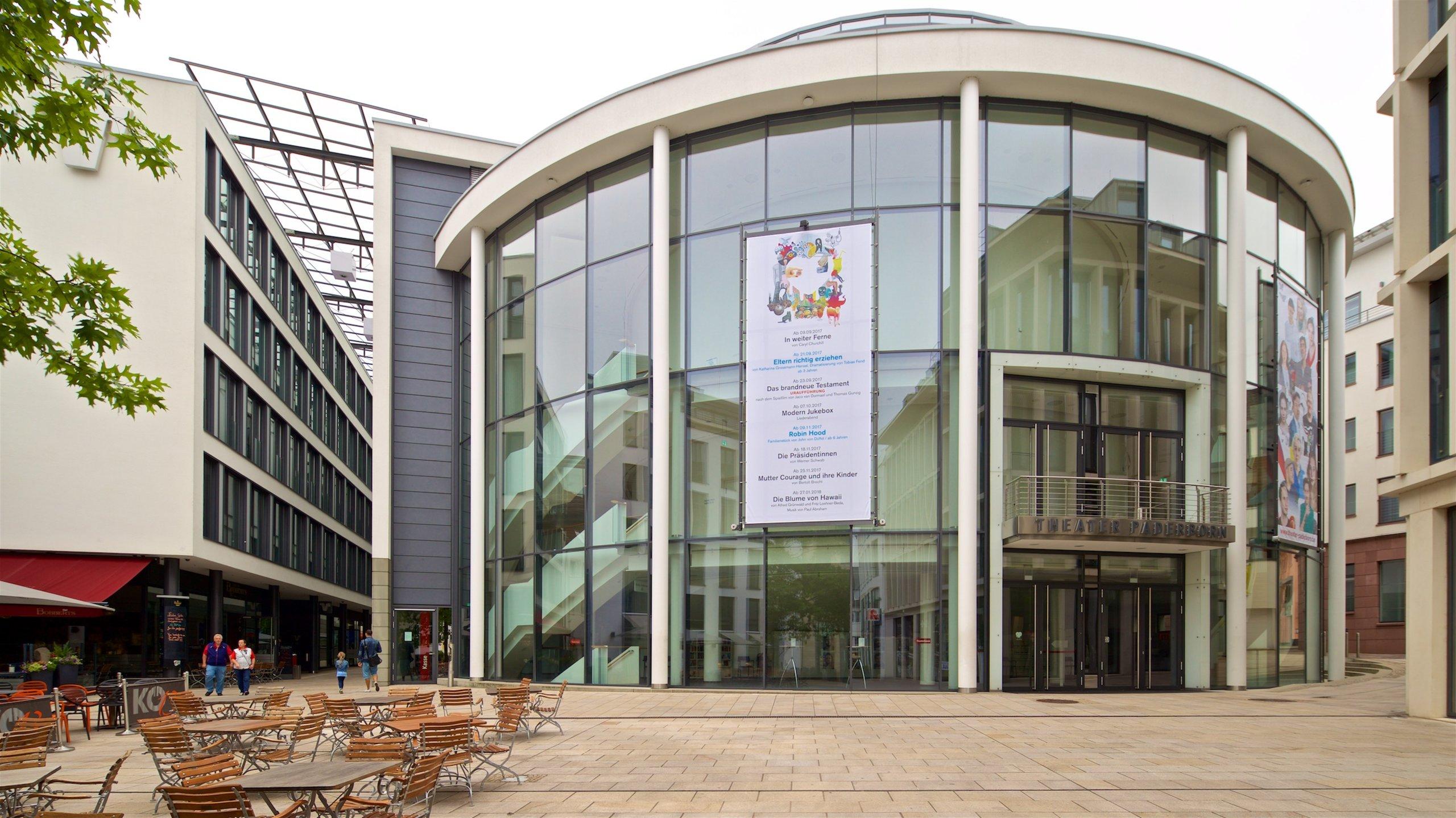 Theater Paderborn, Paderborn, Noordrijn-Westfalen, Duitsland
