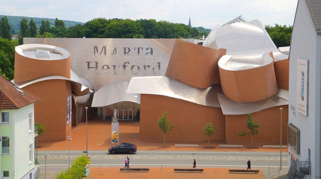 Museum MARTa Herford mit einem moderne Architektur