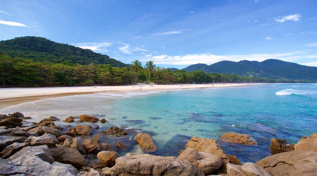 Strand von Lopes Mendes welches beinhaltet Sandstrand, tropische Szenerien und allgemeine Küstenansicht