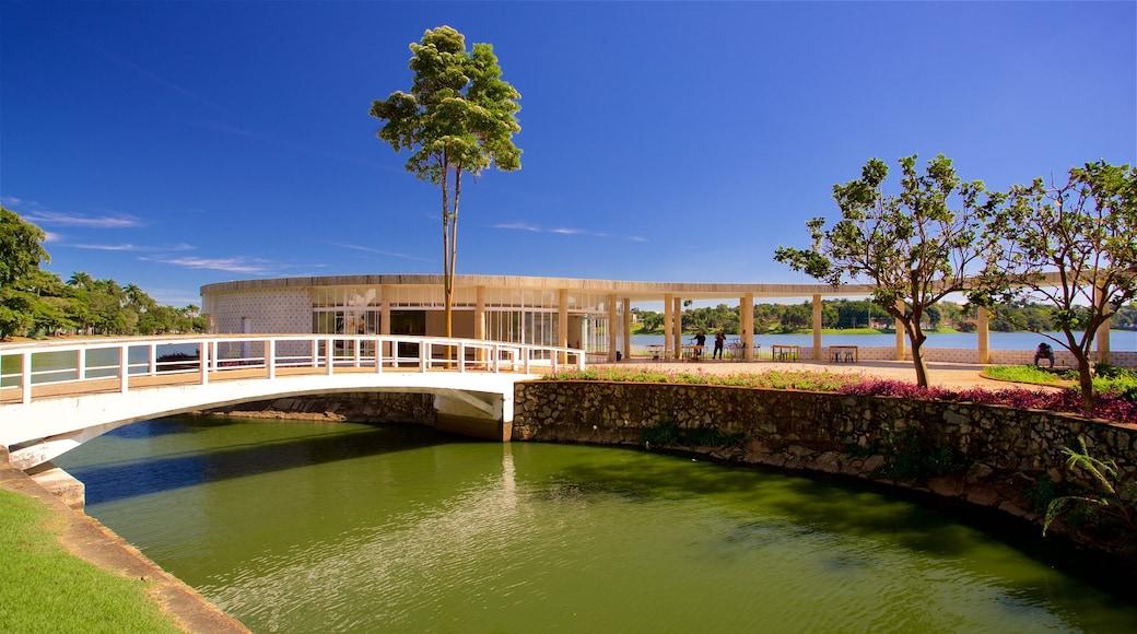Casa do Baile featuring a bridge and a river or creek