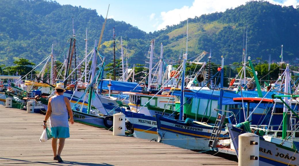 Hafen von Angra dos Reis das einen Bucht oder Hafen sowie einzelner Mann