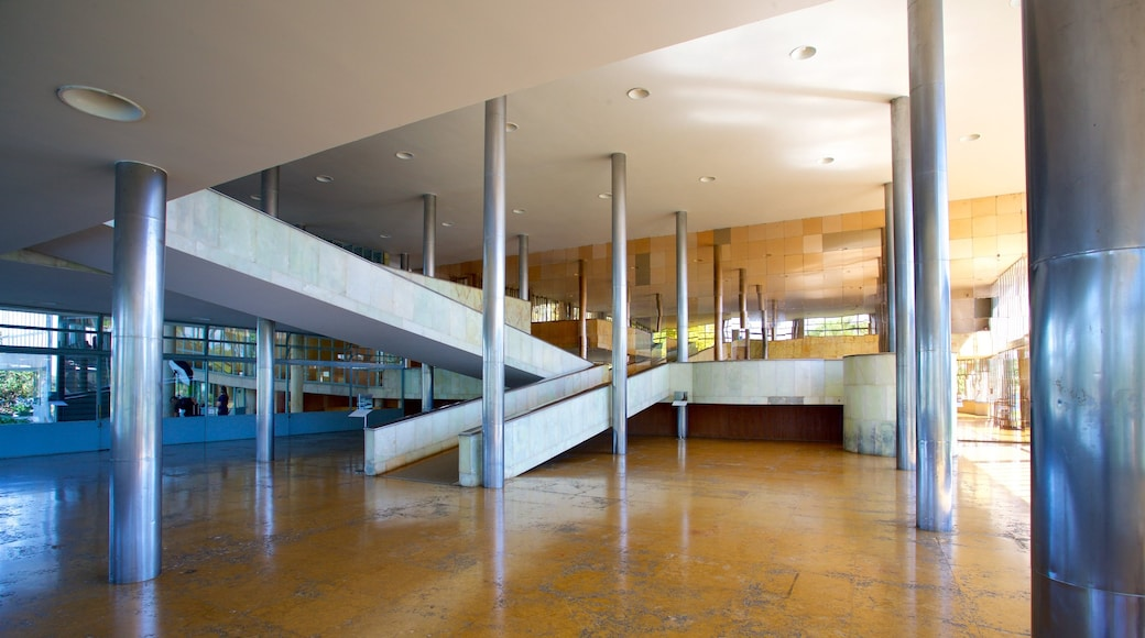 Pampulha Art Museum showing interior views