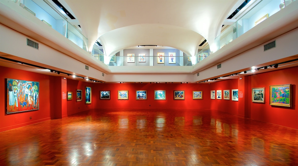 Museum Inima Paula featuring art and interior views