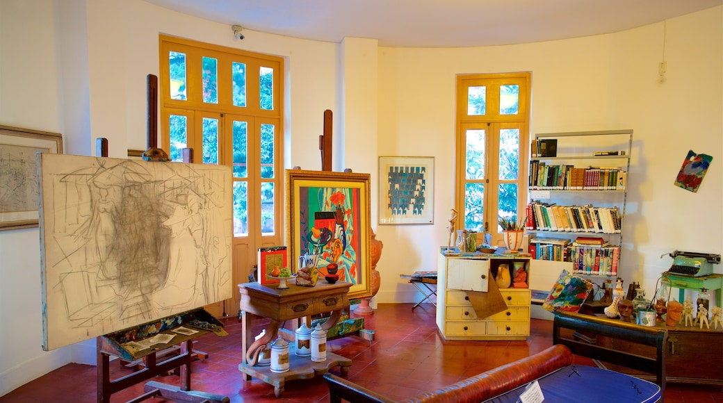 Museum Inima Paula showing interior views and art