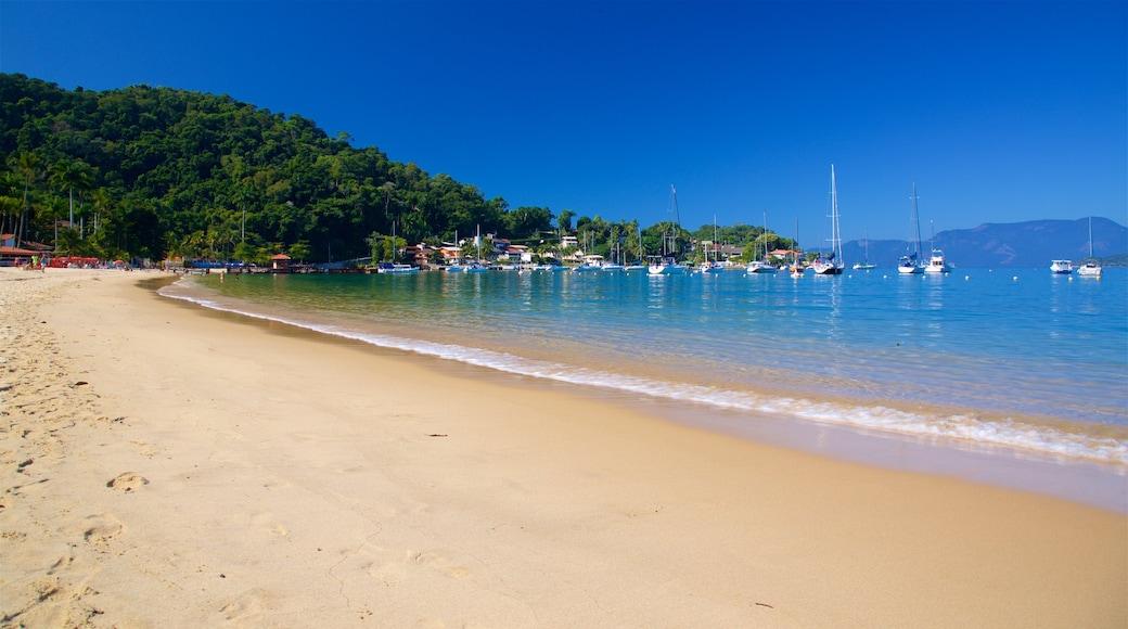 Angra dos Reis welches beinhaltet Strand, Bucht oder Hafen und allgemeine Küstenansicht