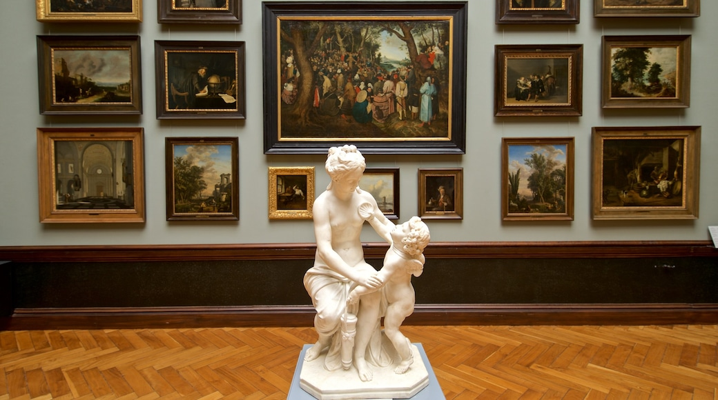 Museum Schwerin das einen Kunst, Innenansichten und Statue oder Skulptur