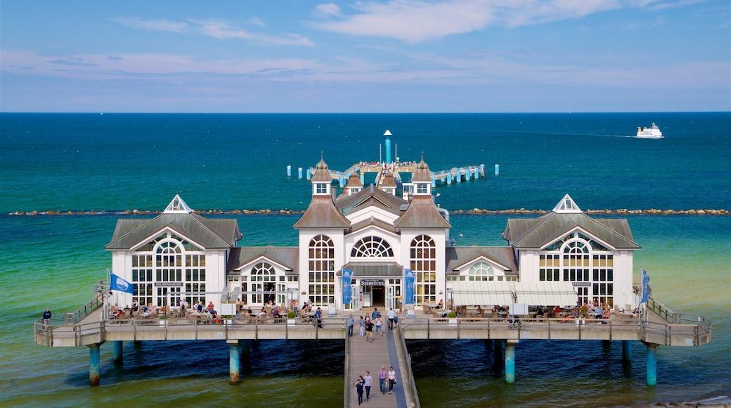 Jetée de Sellin mettant en vedette patrimoine architectural et vues littorales