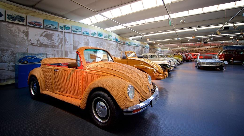 Volkswagen AutoMuseum which includes interior views