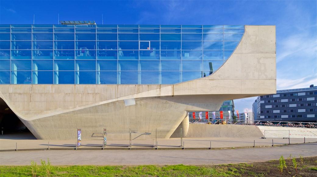 Wissenschaftszentrum Phaeno mit einem moderne Architektur