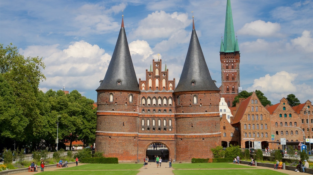 Museum Holstentor which includes heritage architecture