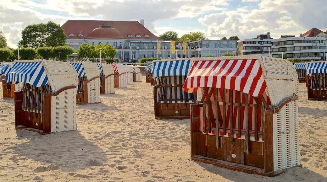 Travemuende which includes a sandy beach and general coastal views