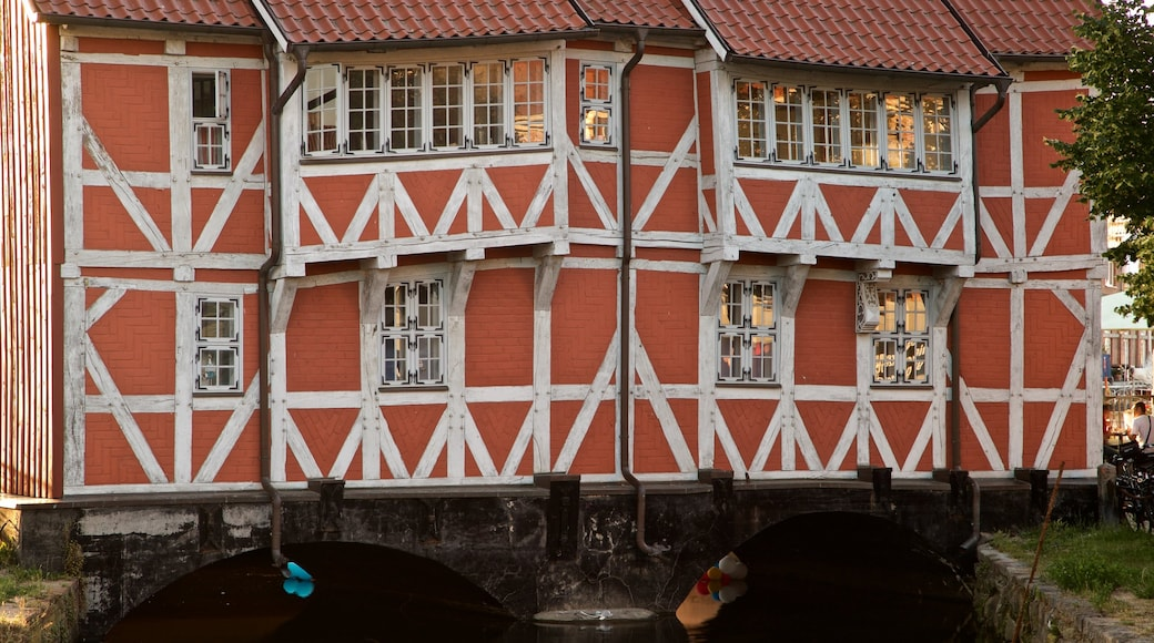 Wismar which includes heritage elements