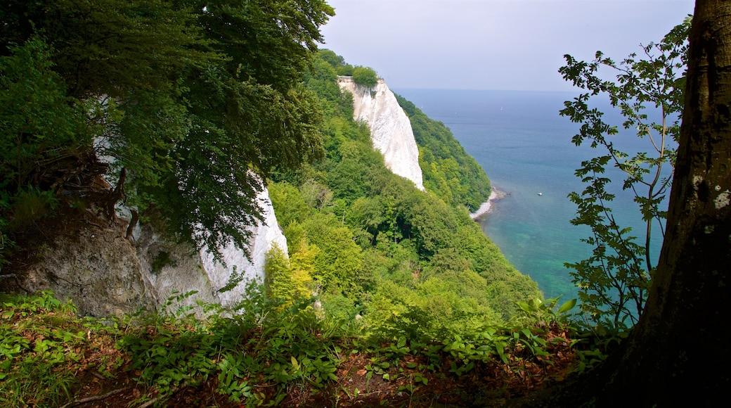 Nationalpark Jasmund welches beinhaltet schroffe Küste und allgemeine Küstenansicht